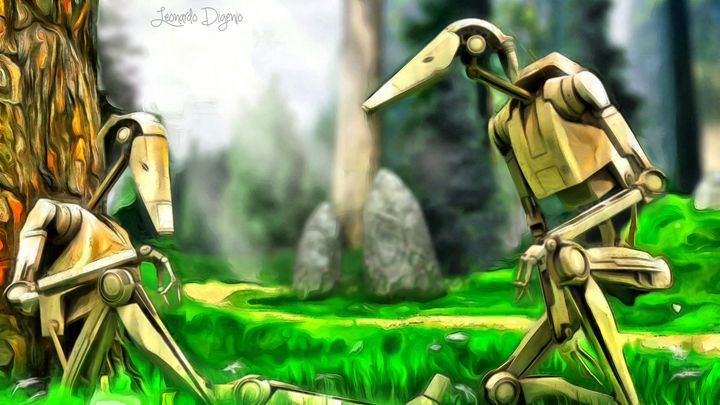 Star Wars - Droids In Park - Leonardo Digenio
