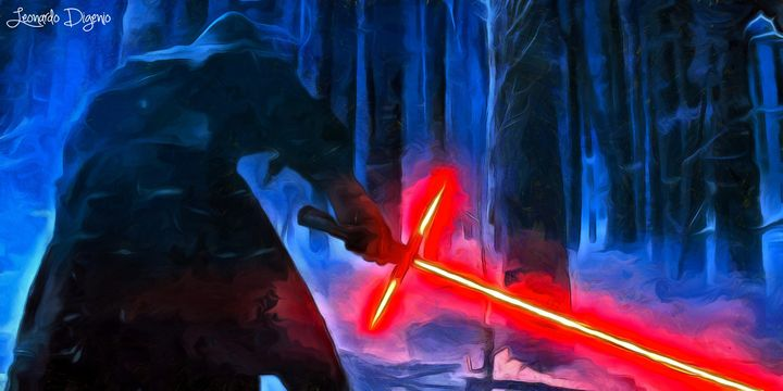 Kylo Ren In The Forest - Leonardo Digenio