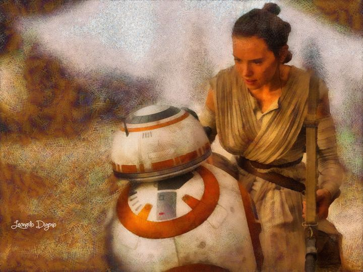 Star Wars Rey And Bb-8 (Wax Style) - Leonardo Digenio