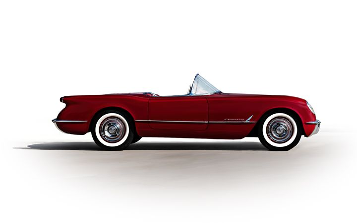Classic Red Corvette - Douglas Pittman Photography
