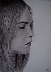 Cara Delevingne portrait drawing