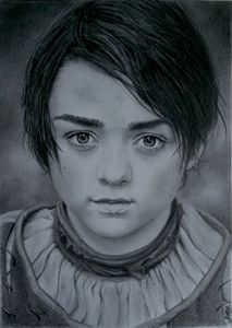Arya Stark GOT portrait drawing