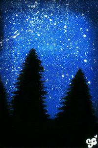 Night sky print.