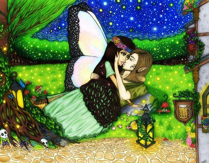 Lovers under starlight. - Shea Campbell Art