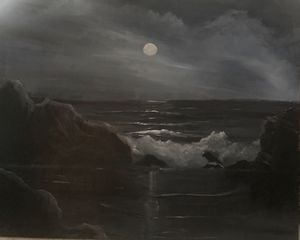 Moonlight on Maine Coast