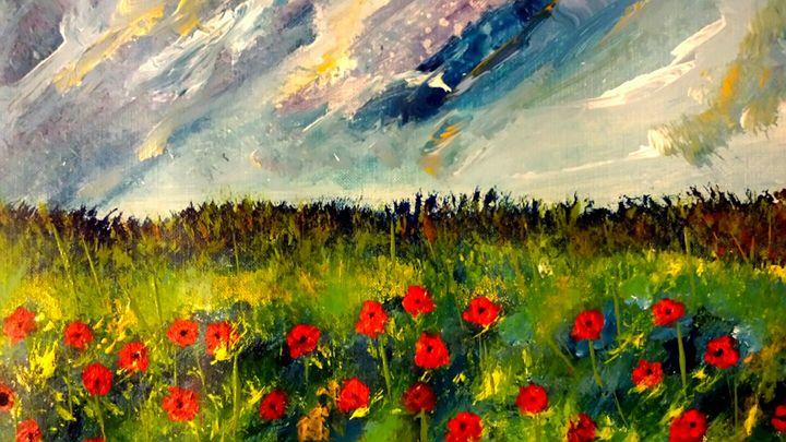 Red Meadow Large - Joanne Filips