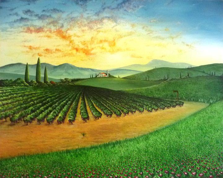 "Tuscany ""Capriccio"" - Artwork By J M Bradford"