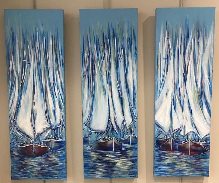 Boats Fantasy Before Sunset - Khrystyna Kozyuk