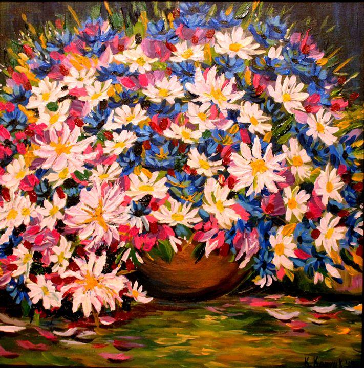 BOUQUET OF PURPLE DAISIES - Khrystyna Kozyuk