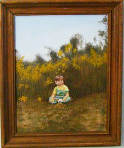 Little boy in the goldenrod