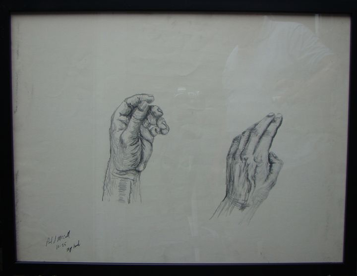 Study of my hand - Paul McCall