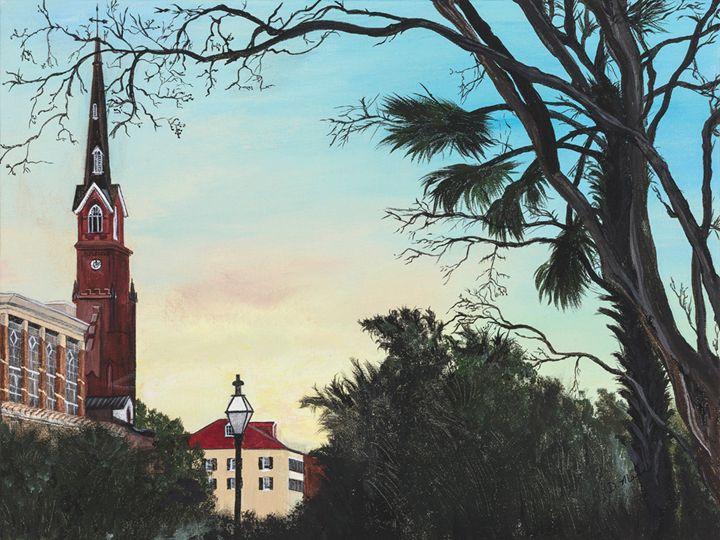 The Steeple of St. Matthews - Art by Donna Mann