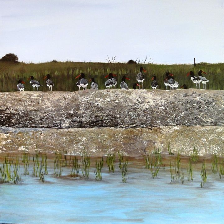 Low Country Duck Walk - Art by Donna Mann