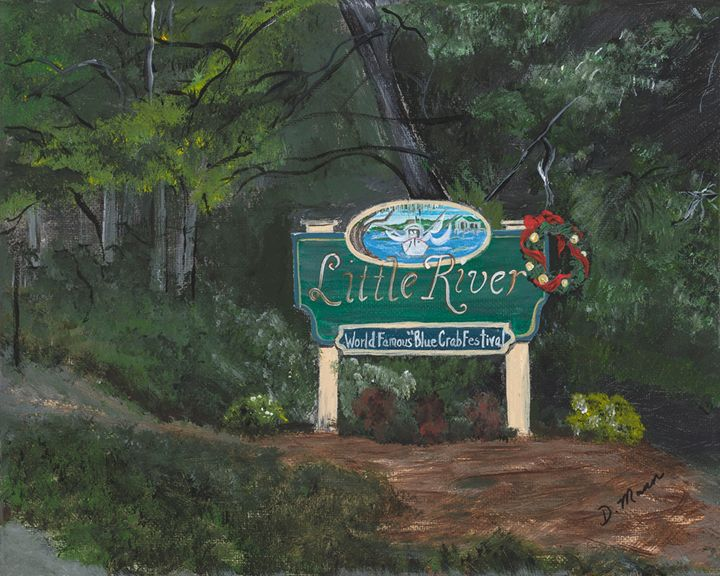 Christmas in Little River - Art by Donna Mann
