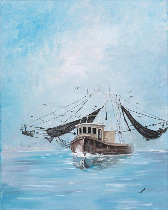 Shrimp Boats of Little River - Art by Donna Mann