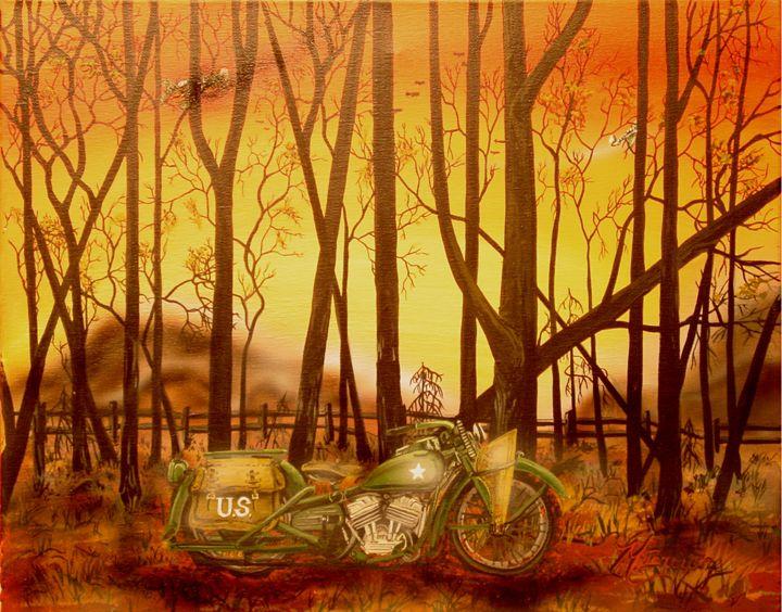 the War Bike, By Mark Brown - Classic360arts