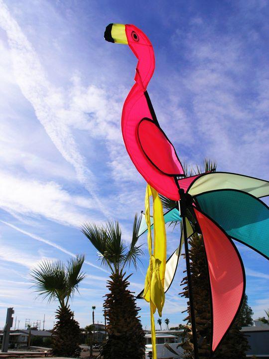 Pink Flamingo Windmill - Avril Joy