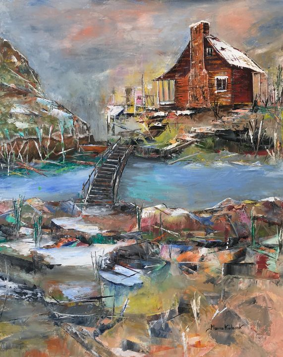 Cabin by the river - MariaKarlosakart