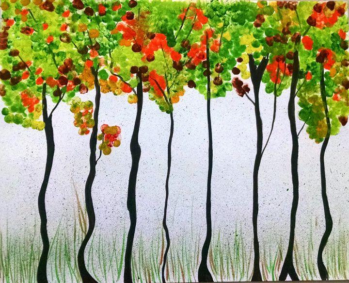 Green forest - Het Art