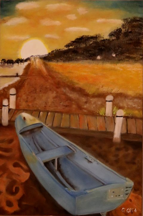Cano on the beach at sunset. - Gerhard Oli4