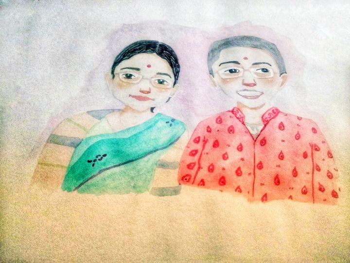 Watercolor custom portraits - Abhimanyu Naikare Kala