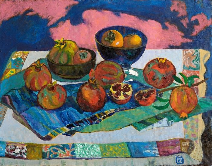 Pomegranates and persimmons - Moesey Li