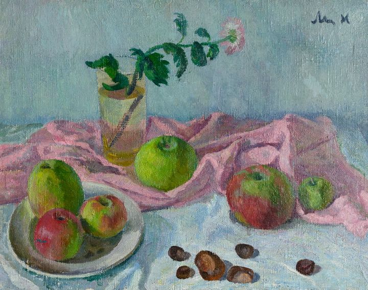 Still life with apples and chestnuts - Moesey Li