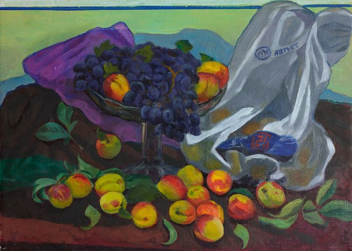 Grapes and peaches - Moesey Li