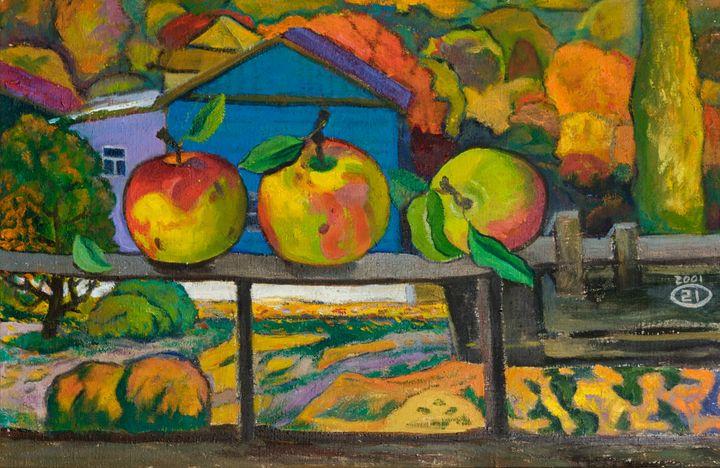 Apples on the balcony - Moesey Li