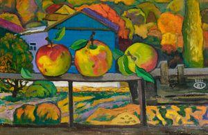 Apples on the balcony