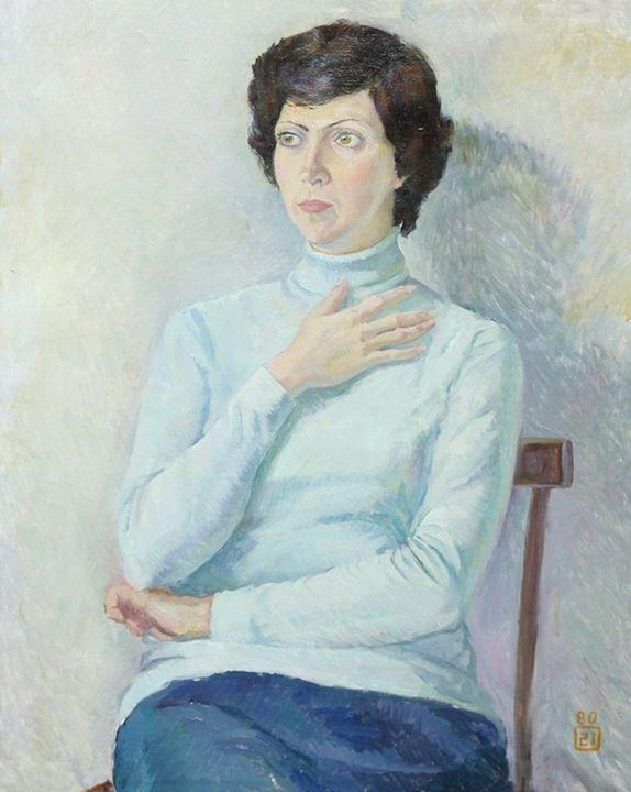 Portrait of Lyuba - Moesey Li
