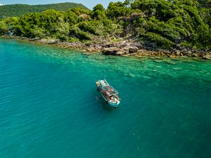 Boating around Koh Rong Sanloem