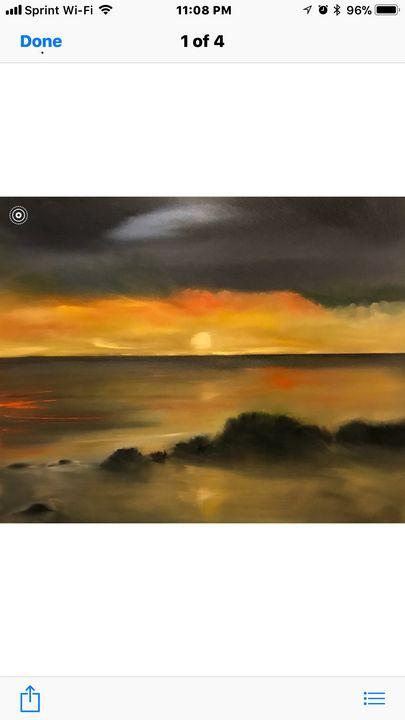 Sunset on the beach - Pamelas Art