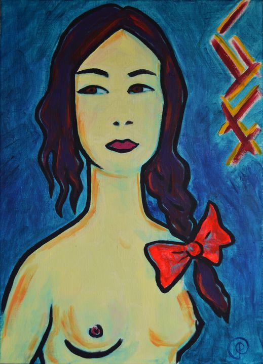 Girl with a bow - Margarita Felis