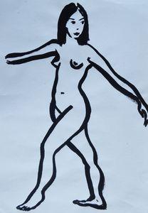 Nude woman sketch 007
