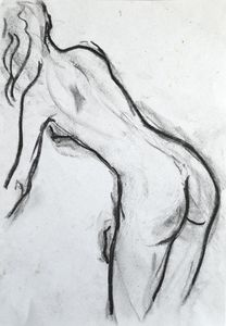 Nude woman sketch 010
