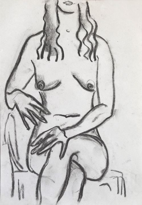 Nude woman sketch 011 - Margarita Felis
