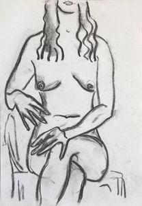 Nude woman sketch 011