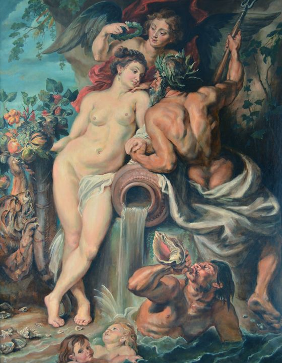 My replica of Rubens's picture - Margarita Felis