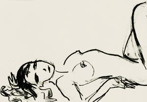 Nude art sketch 011