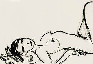 Nude art sketch 011