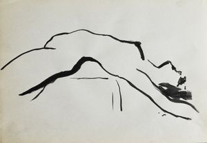 Nude woman sketch 012