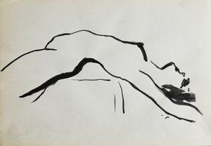 Nude woman sketch 012