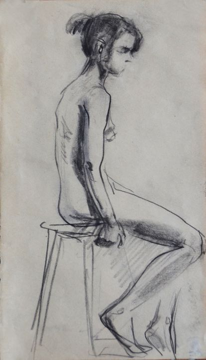 Nude woman sketch 013 - Margarita Felis