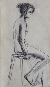 Nude woman sketch 013