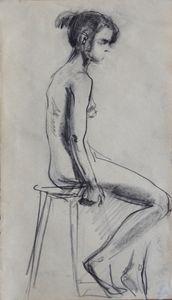 Nude woman sketch 013