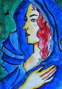Ariadna, watercolor