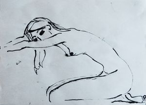 Nude woman sketch 004