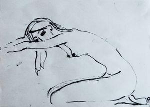 Nude woman sketch 004