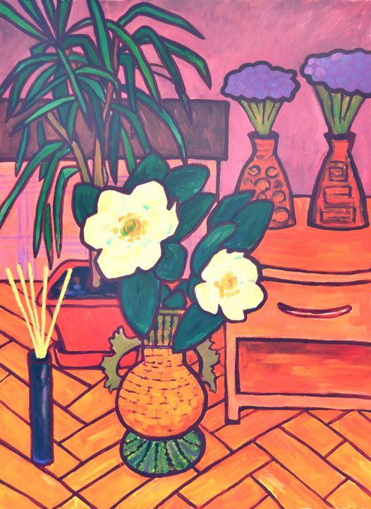Still life with a palm Tree - Margarita Felis